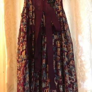 Dress, Nicole Miller, Purple